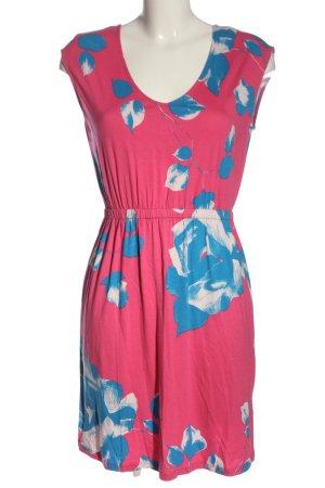 BODY FLIRT Kurzarmkleid pink-blau Motivdruck Casual-Look