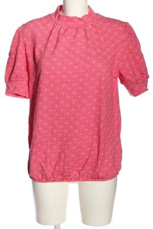 BODY FLIRT Sweter z krótkim rękawem różowy-biały Na całej powierzchni