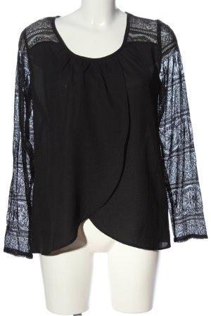 BODY FLIRT Bluzka z długim rękawem czarny W stylu casual