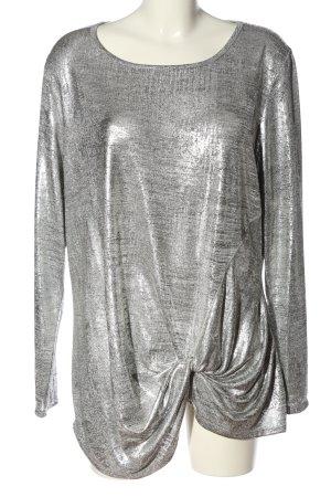 BODY FLIRT Langarm-Bluse hellgrau-silberfarben meliert extravaganter Stil