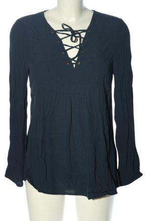 BODY FLIRT Bluzka z długim rękawem niebieski W stylu casual
