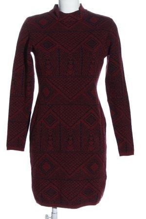 BODY FLIRT Longsleeve Dress red-black allover print casual look