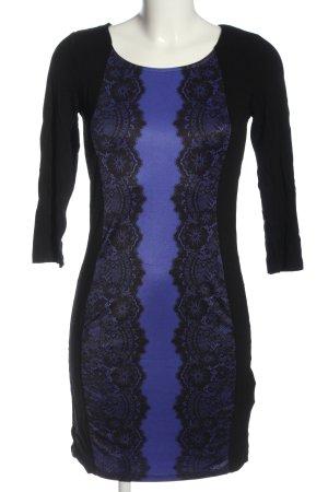 BODY FLIRT Langarmkleid schwarz-blau Casual-Look