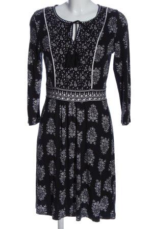 BODY FLIRT Sukienka z długim rękawem czarny-biały Na całej powierzchni