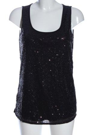 BODY FLIRT Long-Bluse schwarz Glanz-Optik