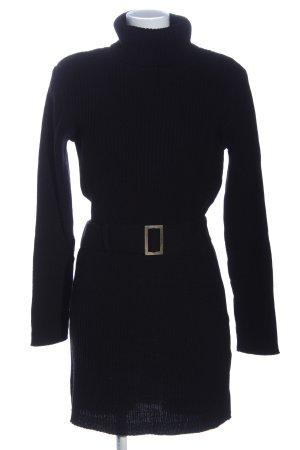BODY FLIRT Długi sweter czarny W stylu casual