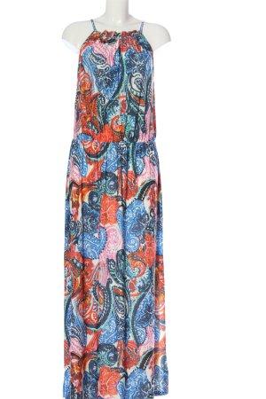 BODY FLIRT Maxikleid blau-pink abstraktes Muster Casual-Look