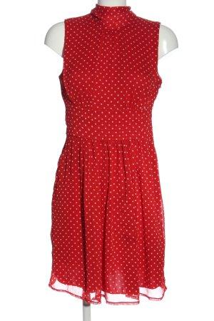 BODY FLIRT Robe mi-longue rouge-blanc imprimé allover style décontracté