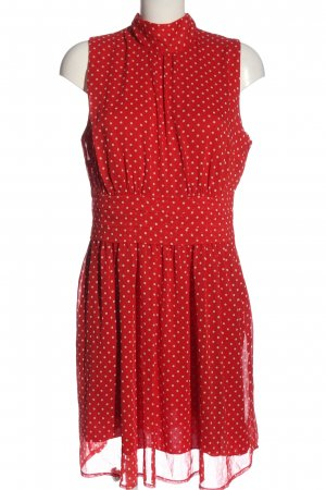 BODY FLIRT Minikleid rot-weiß Punktemuster Elegant