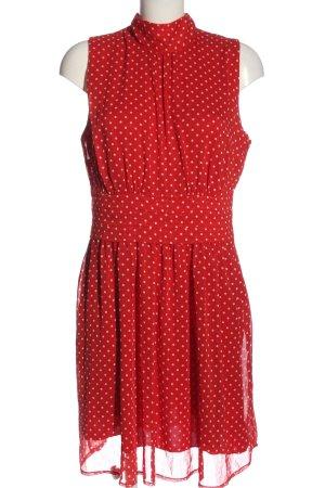BODY FLIRT Mini-jurk rood-wit gestippeld patroon elegant