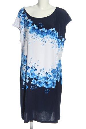 BODY FLIRT Sukienka mini niebieski-biały Na całej powierzchni W stylu casual