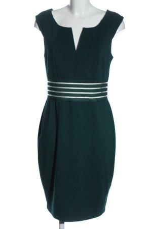 BODY FLIRT Minikleid grün-weiß Business-Look