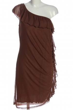 BODY FLIRT One Shoulder Dress brown elegant