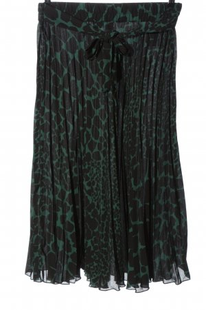 BODY FLIRT Geplooide rok zwart-groen volledige print casual uitstraling