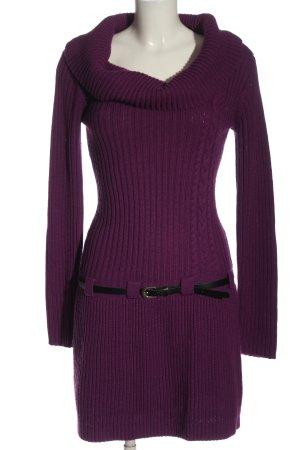 BODY FLIRT Sweaterjurk lila kabel steek casual uitstraling