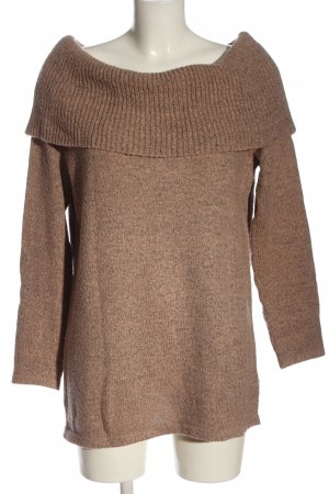 BODY FLIRT Knitted Sweater brown flecked casual look