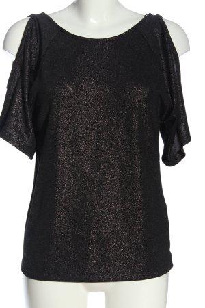BODY FLIRT Bluzka przez głowę czarny-fiolet Melanżowy Elegancki