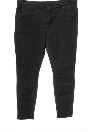 BODY FLIRT Dopasowane jeansy czarny Tkanina z mieszanych włókien