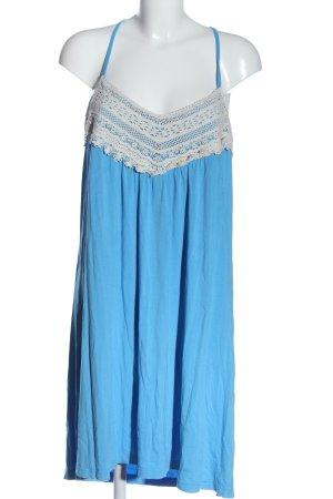 BODY FLIRT Sommerkleid blau-weiß Casual-Look