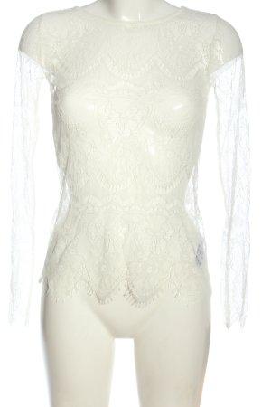 BODY FLIRT Spitzenbluse weiß Elegant