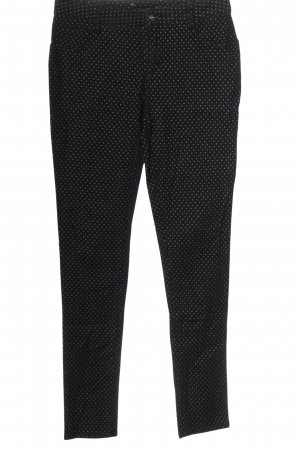 BODY FLIRT Jeans a gamba dritta nero-turchese motivo a pallini stile casual