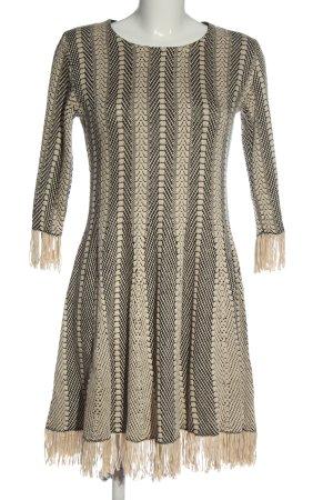 BODY FLIRT Sukienka z dzianiny czarny-w kolorze białej wełny Siateczkowy wzór