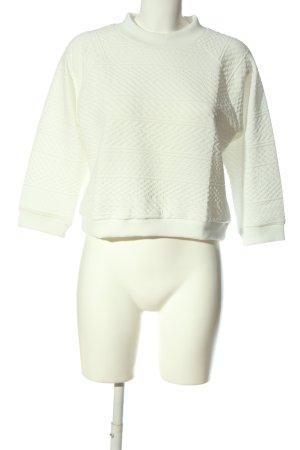 BODY FLIRT Pull tricoté blanc imprimé allover style décontracté