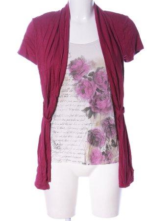 BODY FLIRT Strickshirt pink-weiß Blumenmuster Casual-Look