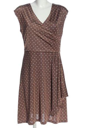 BODY FLIRT Sukienka na ramiączkach brązowy-biały Wzór w kropki