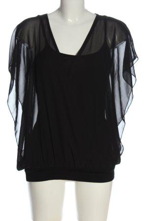 BODY FLIRT Blusa trasparente nero stile casual