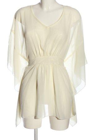 BODY FLIRT Transparentna bluzka w kolorze białej wełny W stylu casual