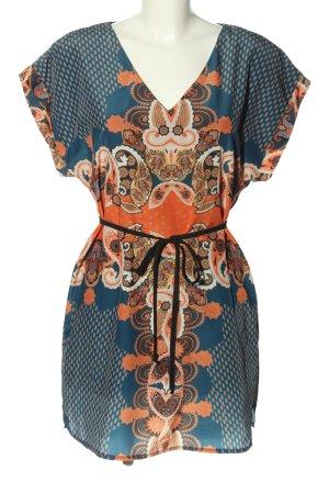 BODY FLIRT Abito a tunica blu-arancione chiaro motivo astratto stile casual
