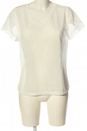 BODY FLIRT V-hals shirt wolwit gestippeld casual uitstraling