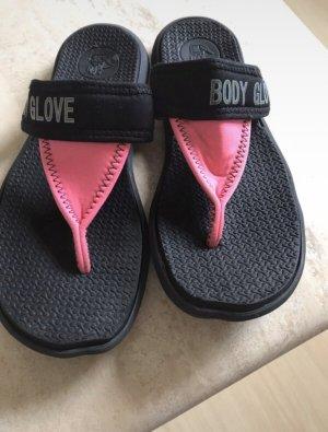 Body Glove Sandalo toe-post nero-rosa