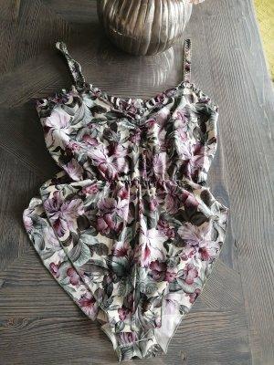 Camicetta body bianco-viola