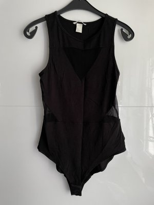H&M Top cut out negro