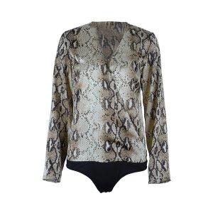 Bodysuit Blouse camel polyester