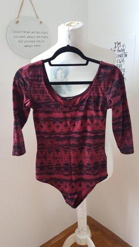 Tally Weijl Koszulka typu batik czarny-brązowo-czerwony