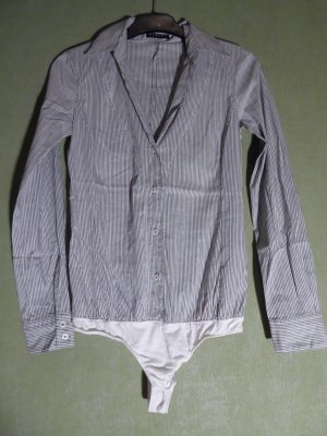 Sisley Bodysuit Blouse white-grey