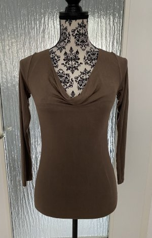 Cowl-Neck Shirt bronze-colored-grey brown