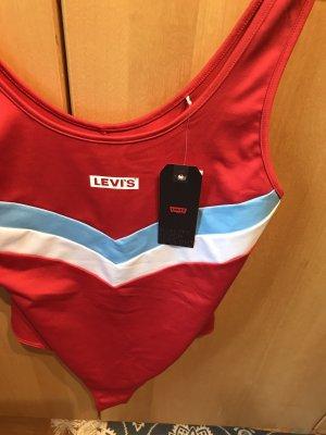 Levi's Blusa tipo body rojo-rojo ladrillo