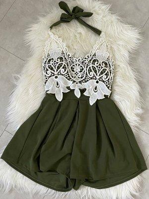 Sukienka plażowa zielono-szary