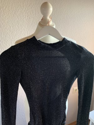 H&M Shirt Body black-silver-colored