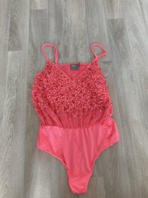 Asos Blusa tipo body rojo claro-magenta