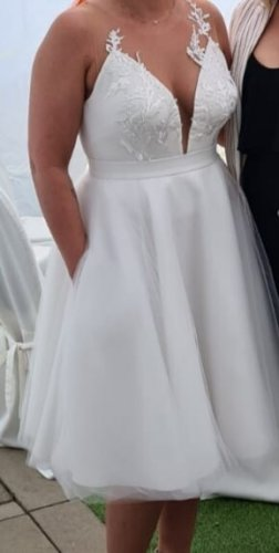 -8- Venice Robe de bal blanc