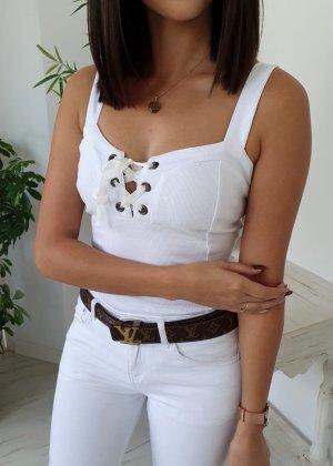 Blusa tipo body blanco