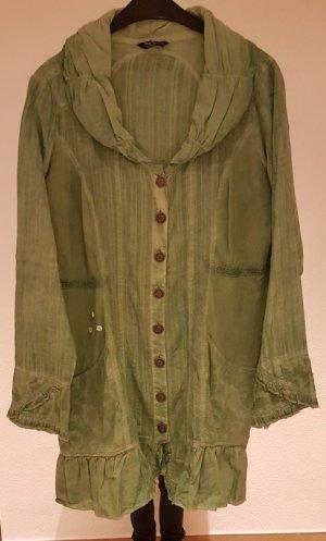 Body Needs Blusa larga verde Algodón
