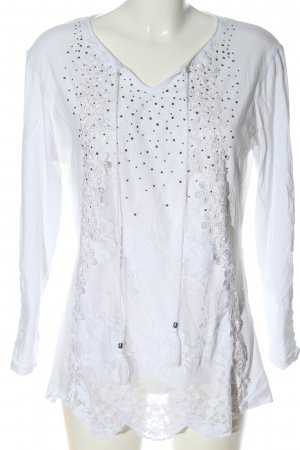 Body Needs Blouse met lange mouwen wit casual uitstraling