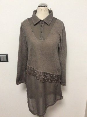 Body Needs Lange blouse taupe