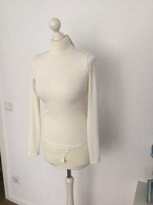 H&M Blusa tipo body blanco-blanco puro